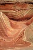 krzywa piaskowe fale Zdjęcia Royalty Free