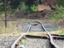 Krzywa w linii kolejowej Fotografia Royalty Free