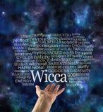 Krzywda Nikt Pozaziemska Wicca słowa etykietki chmura ilustracja wektor