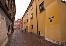 Krzywe Kolo street in Old Town of Warsaw Royalty Free Stock Photography