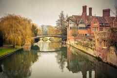 Krzywka rzeka, Cambridge Obraz Stock