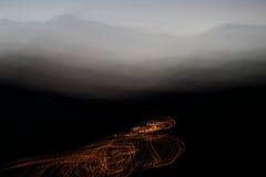 Krzywy światło Fotografia Stock