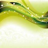 krzywy abstrakcjonistyczna zieleń ilustracja wektor