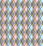 Krzywy, abstrakt, dekoracyjny tło szaroniebieski, bezszwowy, wektor ilustracja wektor