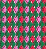 Krzywy, abstrakt, dekoracyjny tło zielony, bezszwowy, wektor ilustracji