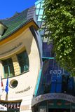 Krzywy Domek crooked little house at Monte Cassino Street, Sopot, Poland royalty free stock images
