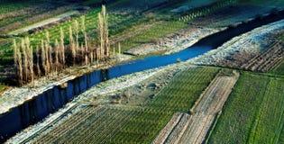 Krzywy i linia krajobraz Fotografia Stock