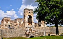 Krzyztopor城堡废墟在乌亚兹德村庄波兰 免版税库存照片