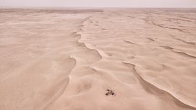 Deser storm. In Ksa desert this landscape has been taken in 2018 winter it is a sea from sands and dunes Royalty Free Stock Photo