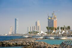 Free KSA, Jeddah Cityscape , New Corniche, Jeddah City , Saudi Arabia . Red Sea Stock Photography - 187605462