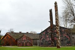 'Ksan Historical Village near Hazelton, BC Stock Photography