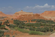 Ksar Ait Ben Haddou 5. Aït Benhaddou is a 'fortified city', or ksar, along the former caravan route between the Sahara and Marrakech. It is situated in Souss Stock Photo