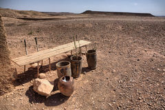 Ksar Ait Ben Haddou arid outskirts stock images