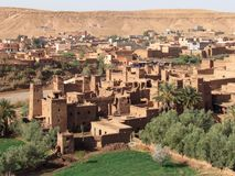 Beautiful city Ksar of Ait Ben Haddou in center Morocco royalty free stock image
