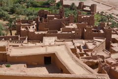 Ksar Ait Ben Haddou From Top Stock Image