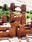 Ksar Ait Ben Haddou i Marocko Arkivfoto