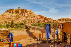 Ksar Ait Ben Haddou, Marocko Arkivfoton