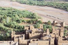 Ksar Ait Ben Haddou village from above Stock Images
