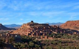 Ksar Ait Benhaddou nära Ouarzazate i Marocko Fotografering för Bildbyråer