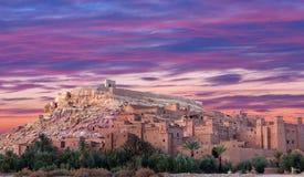 Ksar Ait Benhaddou nära Ouarzazate i Marocko Royaltyfria Foton