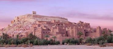 Ksar Ait Benhaddou nära Ouarzazate i Marocko Royaltyfri Bild