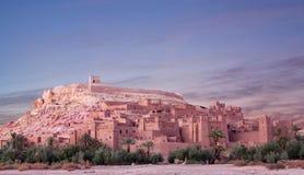 Ksar Ait Benhaddou nära Ouarzazate i Marocko Arkivfoto