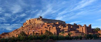 Ksar Ait Benhaddou near Ouarzazate in Morocco. Panorama of Ait Benhaddou Casbah near Ouarzazate city in Morocco. Ait Benhaddou is a fortified city, or palace ( Stock Photos