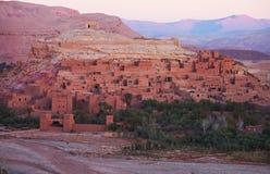 Ksar av Ait-Ben-Haddou, Marocko Arkivfoto