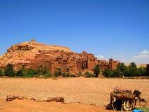 Ksar av Ait-Ben-Haddou (Marocko) Arkivbilder