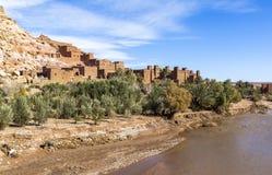 Ksar av Ait-Ben-Haddou, Moroccco Arkivfoto