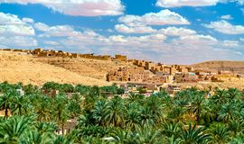Ksar Bounoura, an old town in the M`Zab Valley in Algeria. Ksar Bounoura, an ancient berber town in the M`Zab Valley in Algeria royalty free stock photo