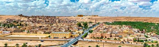 Ksar Bounoura, een oude stad in de Vallei van M ` Zab in Algerije royalty-vrije stock afbeeldingen