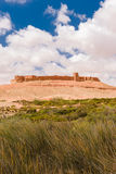 Ksar Tafnidilt blisko wadiego Draa, dębnika dębnik, Maroko Zdjęcia Stock