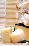 Käse und Wein Stockfotografie