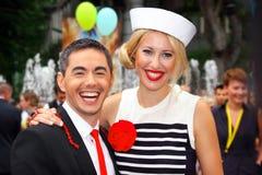 Ksenia Sobchak e Timur Rodriguez Fotografia de Stock Royalty Free