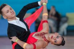 Ksenzhik Pavel et programme de norme de Stanislavchik Mariya Perform Youth-2 Image stock