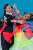 Ksenzhik Pavel and Stanislavchik Mariya Perform Youth-2 Standard Program Stock Image