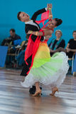 Ksenzhik Pavel y programa del estándar de Stanislavchik Mariya Perform Youth-2 Fotos de archivo libres de regalías