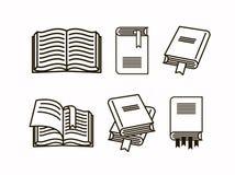 Książkowej ilustracji set Kolekcja kreskowa nakreślenie ikony książka ilustracji