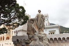 Książe Albert Ja statua, Monaco miasto Zdjęcia Royalty Free