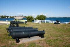 Książe Edward bateria Charlottetown, Kanada - obraz stock