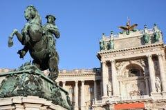 Książe Eugen Savoy w Wiedeń, Austria obraz stock