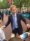 Książe Harry chwiania ręki z tłumem Obraz Stock