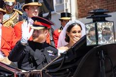 Książe Harry i Meghan Markle ślub obraz royalty free
