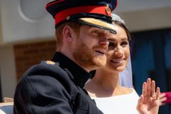 Książe Harry i Meghan Markle ślub obrazy royalty free