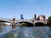Książe Przerzucają most nad Yarra rzeką w Melbourne, Australia zdjęcie royalty free