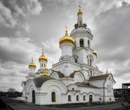 Książe Vladimir ` s kościół w mieście Irkutsk Fotografia Stock