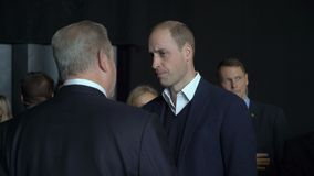 Książe William, diuk Cambridge, spotyka Al Gore rozpustę - prezydent stanów zjednoczonych zdjęcie wideo