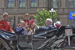 Książe William i Kate, Kanada Dzień obraz royalty free