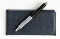 książeczki czekowej długopis. Fotografia Stock